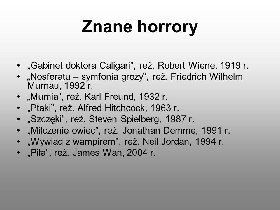 """Znane horrory """"Gabinet doktora Caligari , reż. Robert Wiene, 1919 r."""
