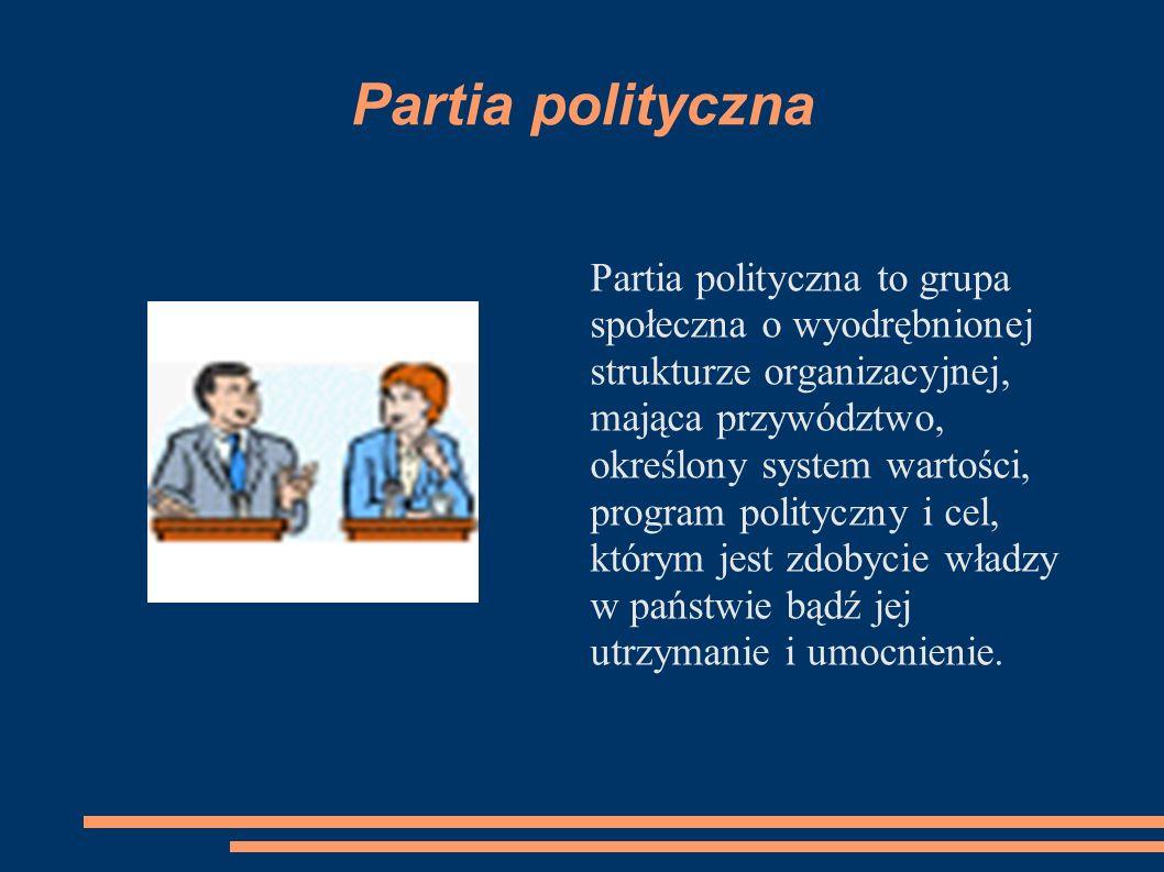 Partia polityczna