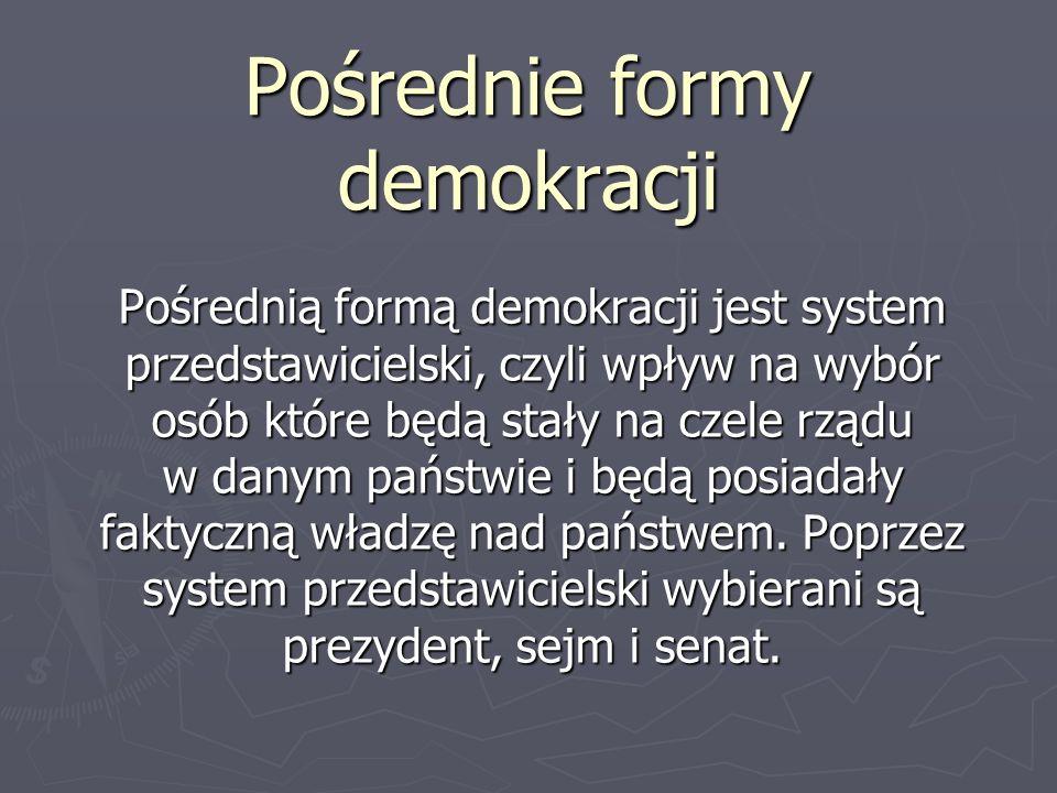 Pośrednie formy demokracji