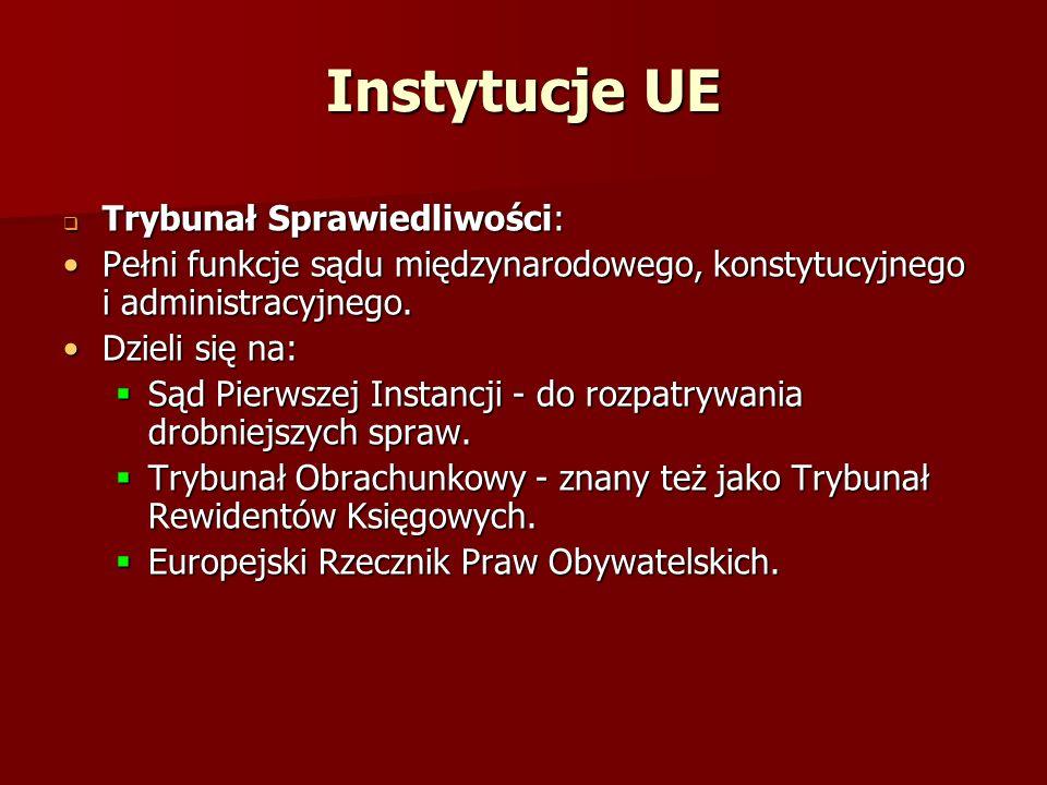 Instytucje UE Trybunał Sprawiedliwości: