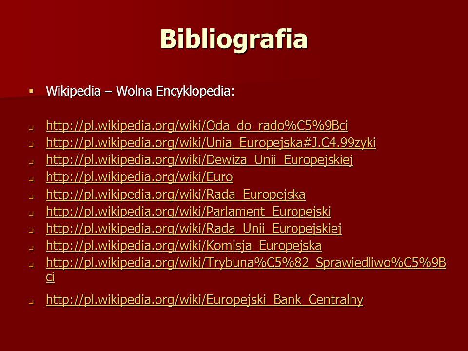 Bibliografia Wikipedia – Wolna Encyklopedia: