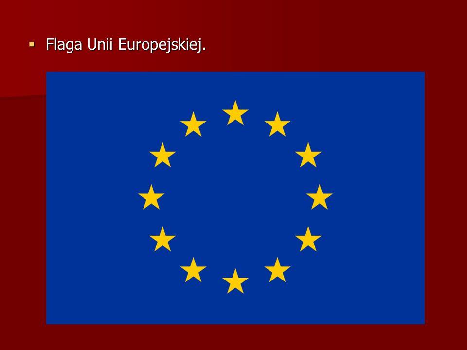 Flaga Unii Europejskiej.