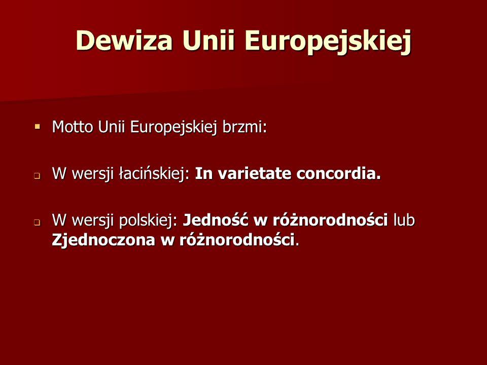 Dewiza Unii Europejskiej