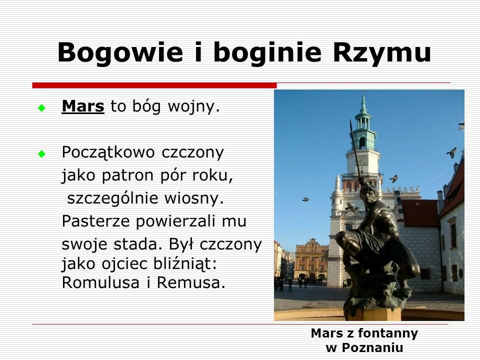 Bogowie i boginie Rzymu Mars z fontanny w Poznaniu