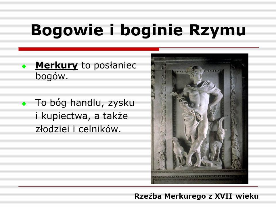 Bogowie i boginie Rzymu Rzeźba Merkurego z XVII wieku
