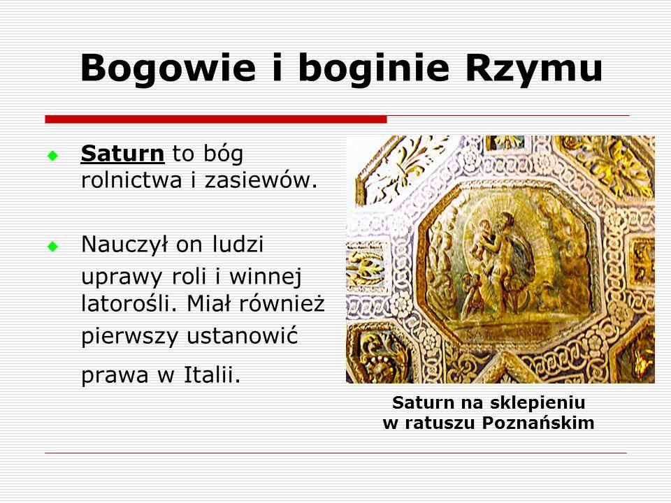 Bogowie i boginie Rzymu Saturn na sklepieniu w ratuszu Poznańskim