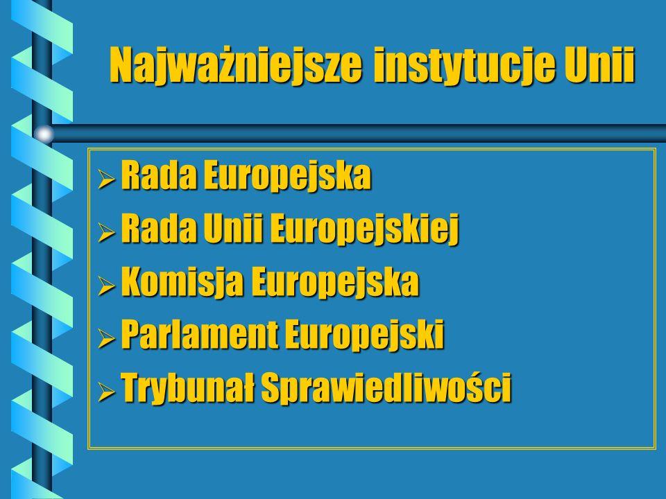 Najważniejsze instytucje Unii