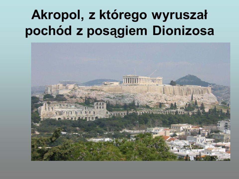 Akropol, z którego wyruszał pochód z posągiem Dionizosa