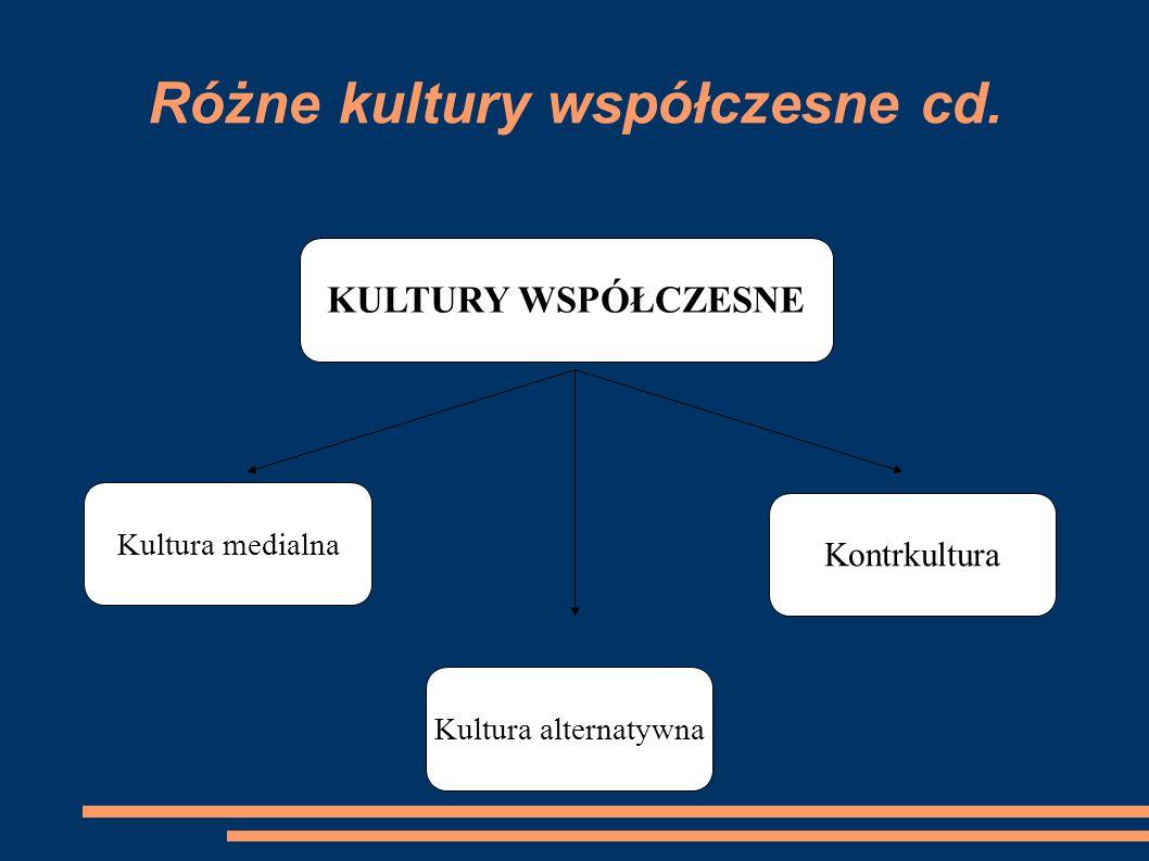 Różne kultury współczesne cd.