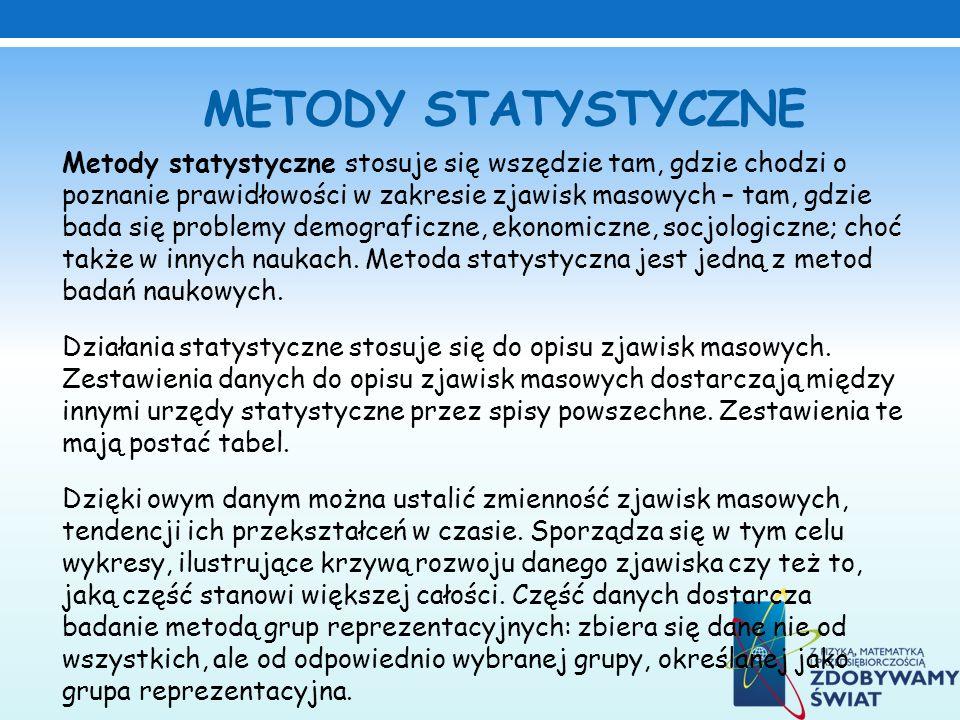 METODY STATYSTYCZNE
