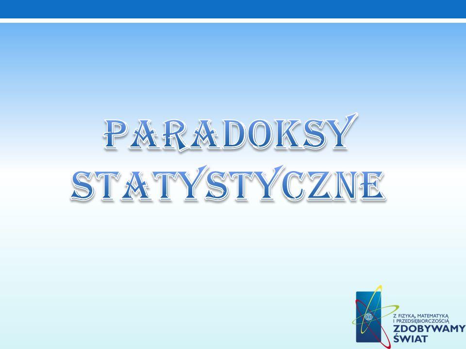 Paradoksy statystyczne