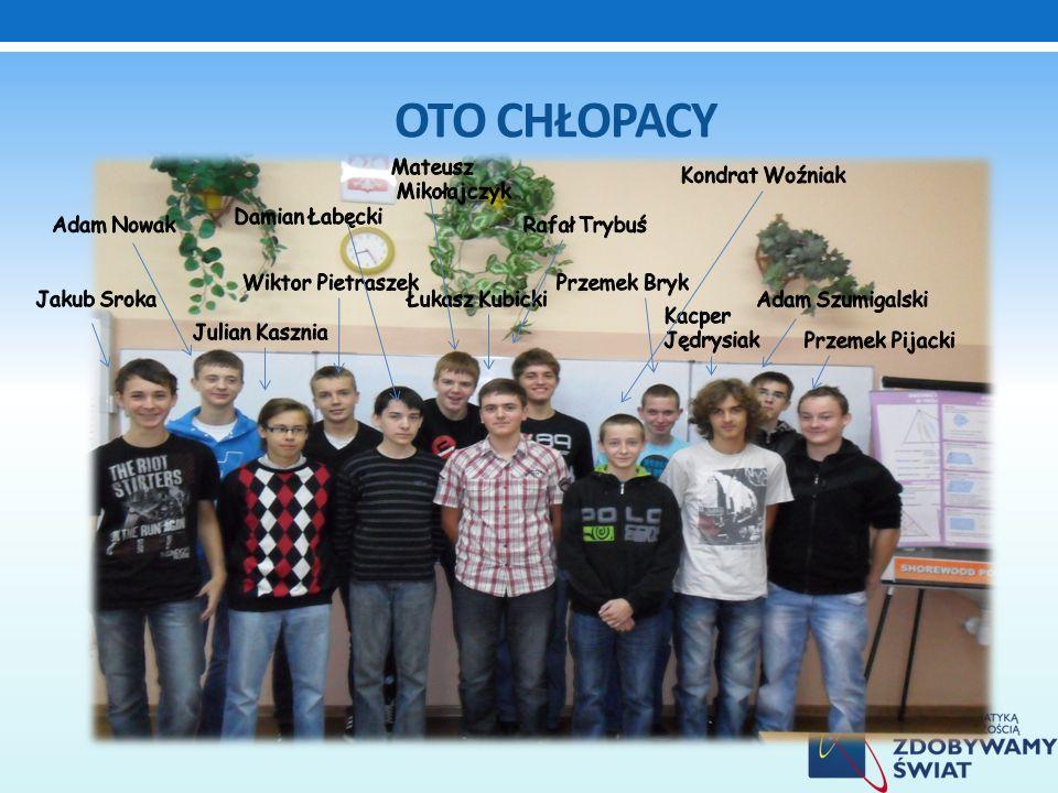 Oto chłopacy Mateusz Mikołajczyk Kondrat Woźniak Damian Łabęcki