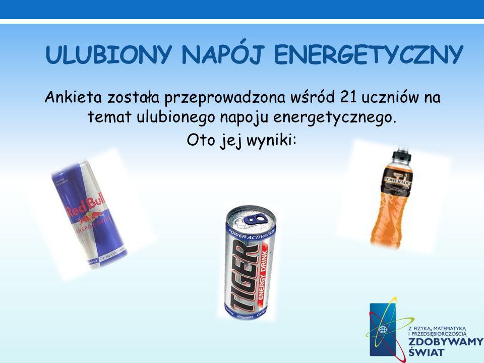 ULUBIONY NAPÓJ ENERGETYCZNY