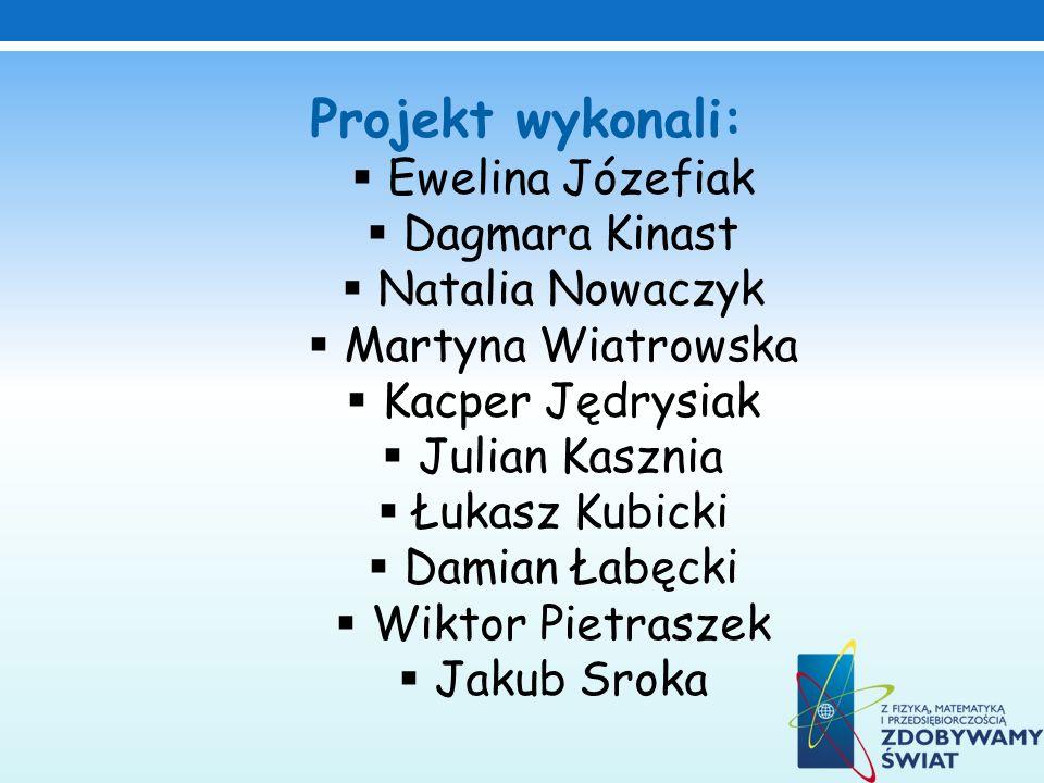 Projekt wykonali: Ewelina Józefiak Dagmara Kinast Natalia Nowaczyk