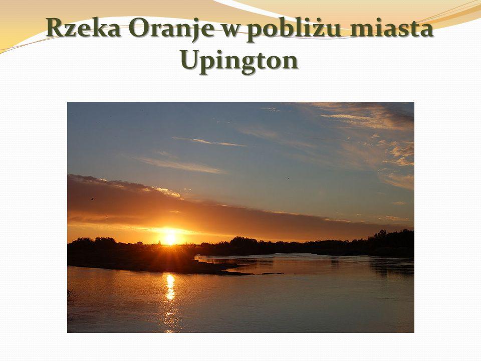 Rzeka Oranje w pobliżu miasta Upington