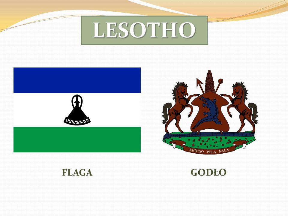 LESOTHO FLAGA GODŁO