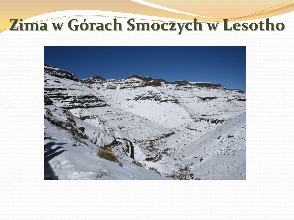 Zima w Górach Smoczych w Lesotho