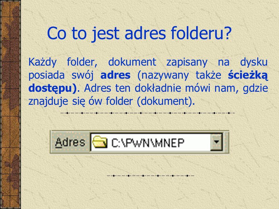 Co to jest adres folderu