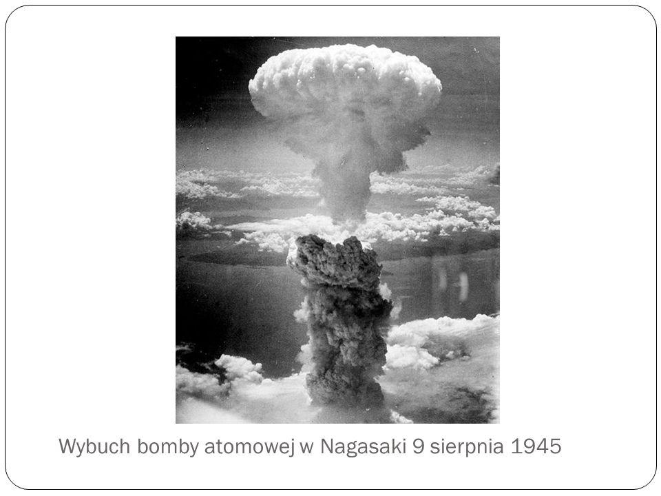 Wybuch bomby atomowej w Nagasaki 9 sierpnia 1945