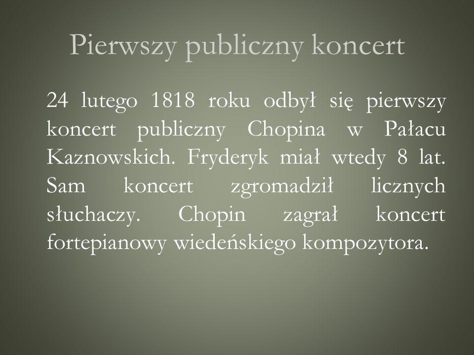 Pierwszy publiczny koncert