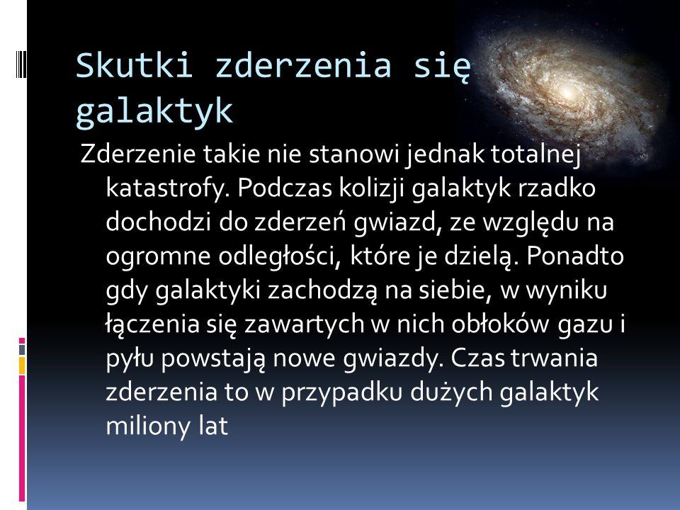 Skutki zderzenia się galaktyk