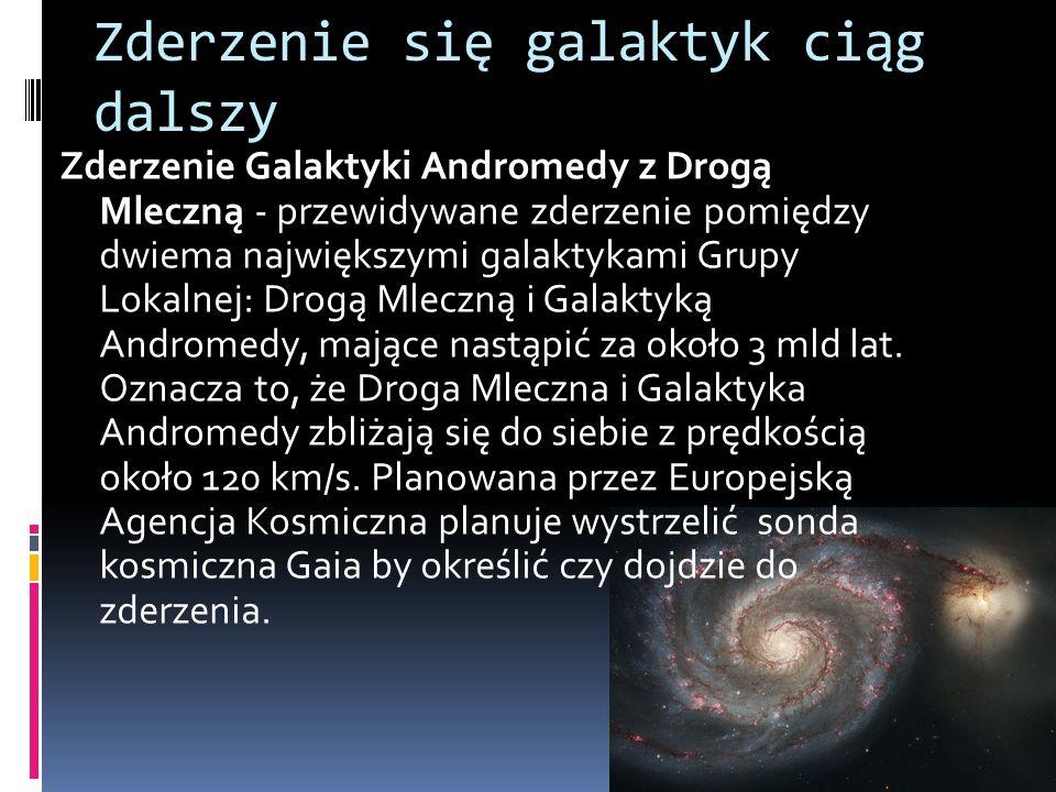 Zderzenie się galaktyk ciąg dalszy