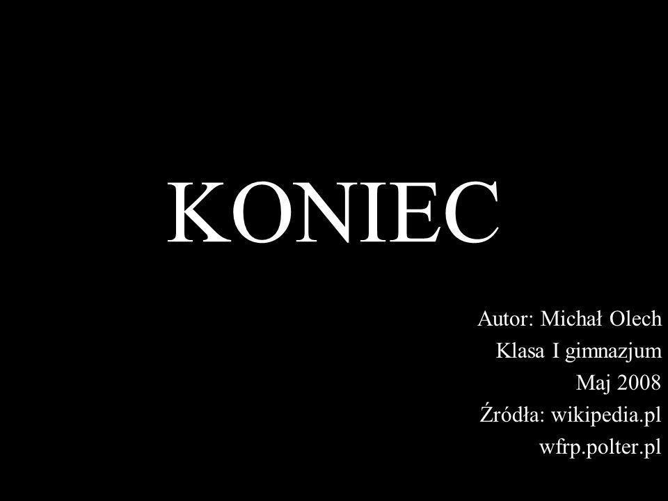 KONIEC Autor: Michał Olech Klasa I gimnazjum Maj 2008