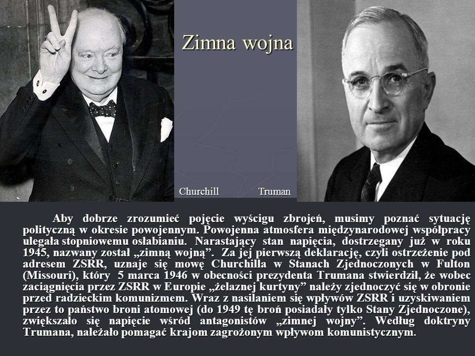 Zimna wojna Churchill Truman