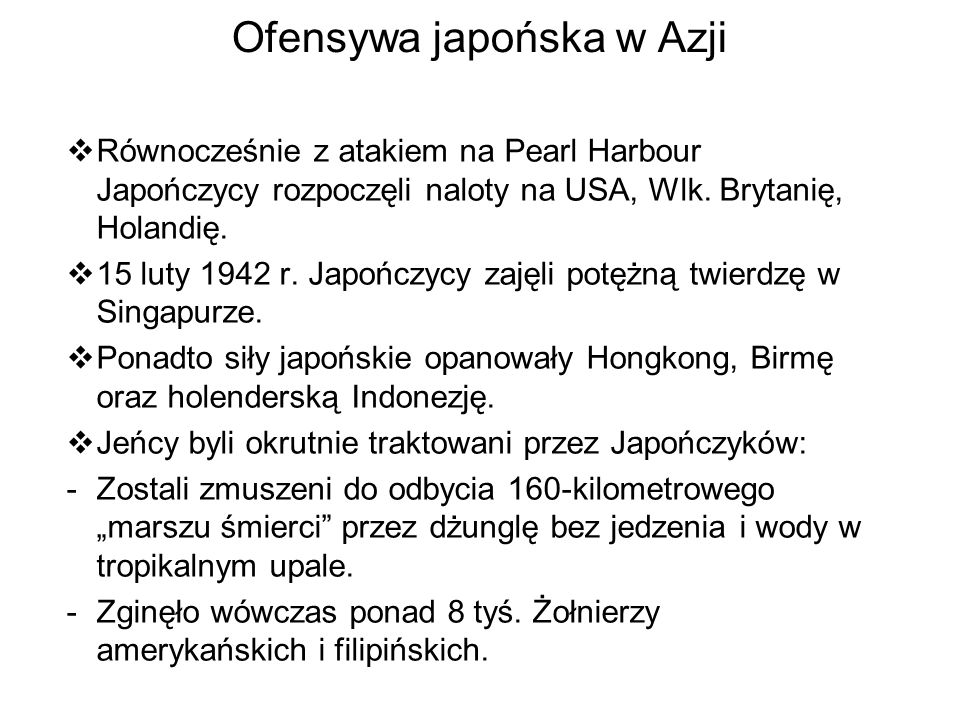 Ofensywa japońska w Azji