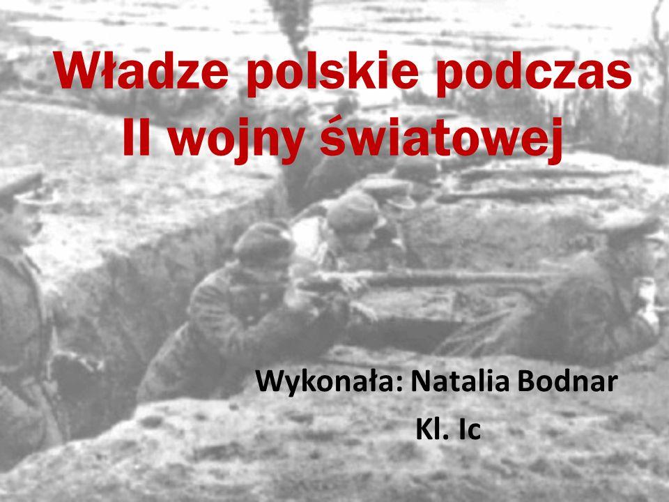 Władze polskie podczas II wojny światowej