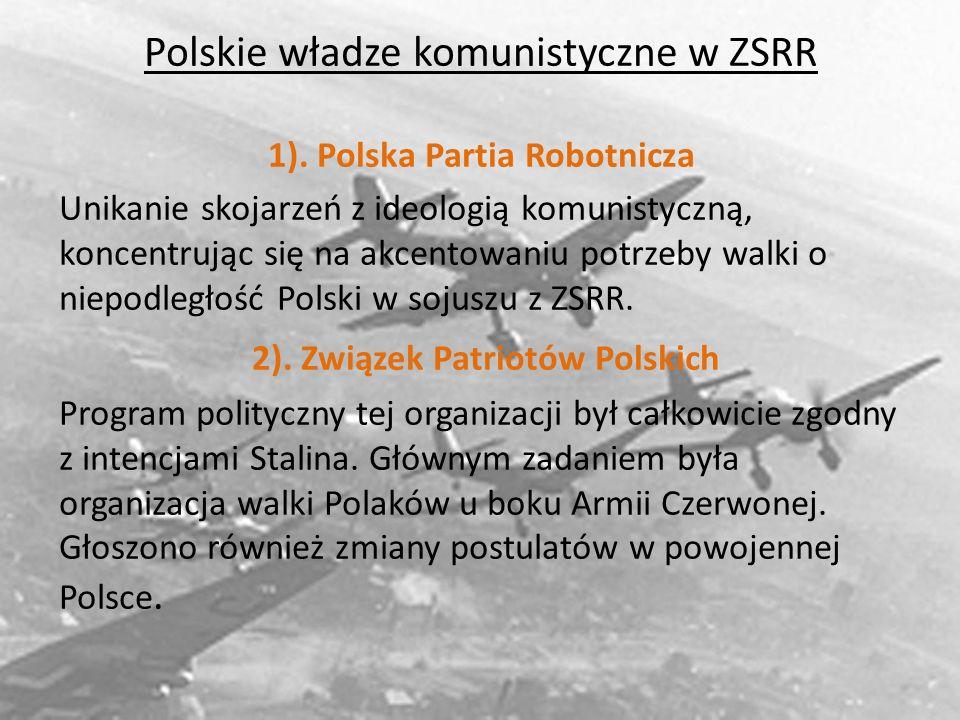 1). Polska Partia Robotnicza