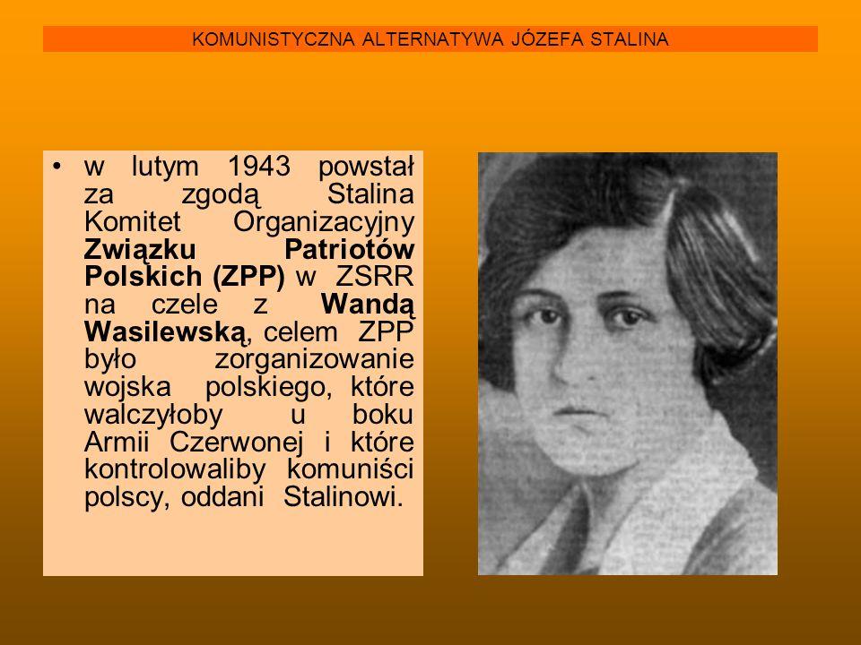 KOMUNISTYCZNA ALTERNATYWA JÓZEFA STALINA