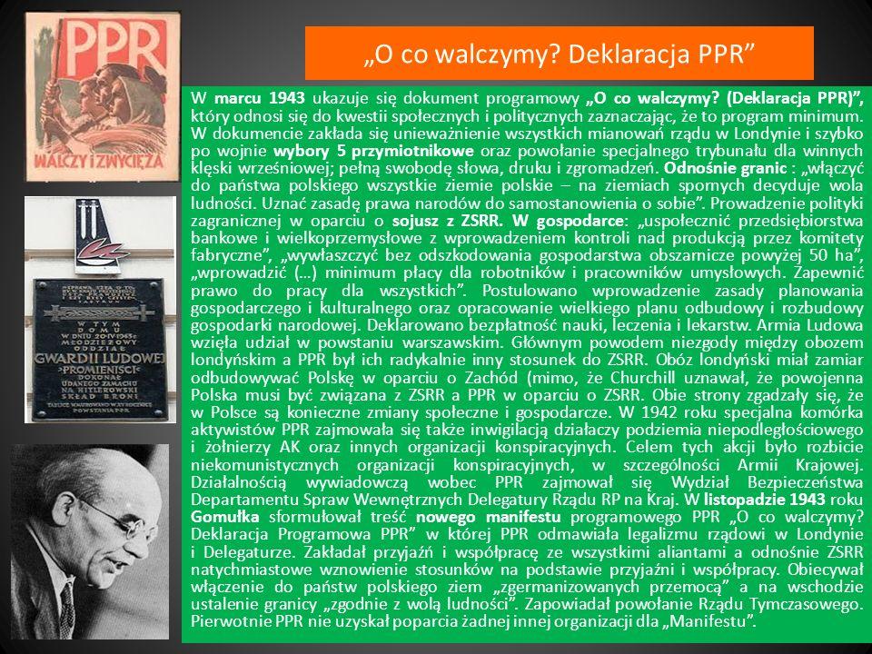"""""""O co walczymy Deklaracja PPR"""