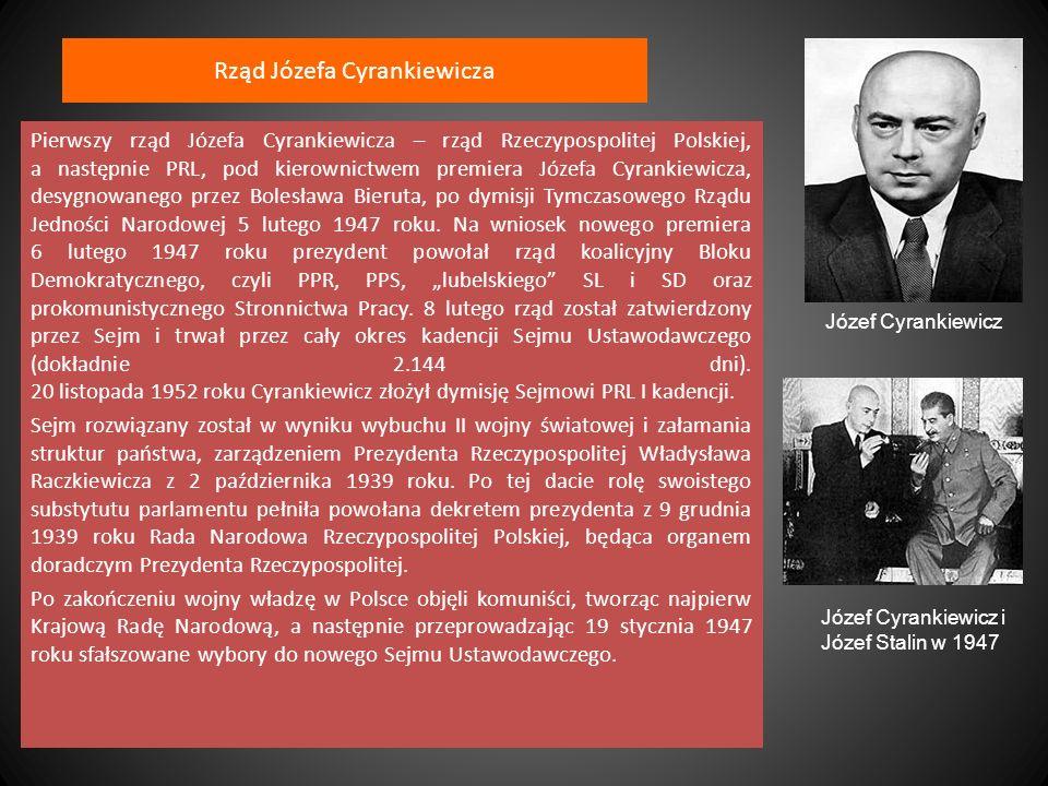 Rząd Józefa Cyrankiewicza