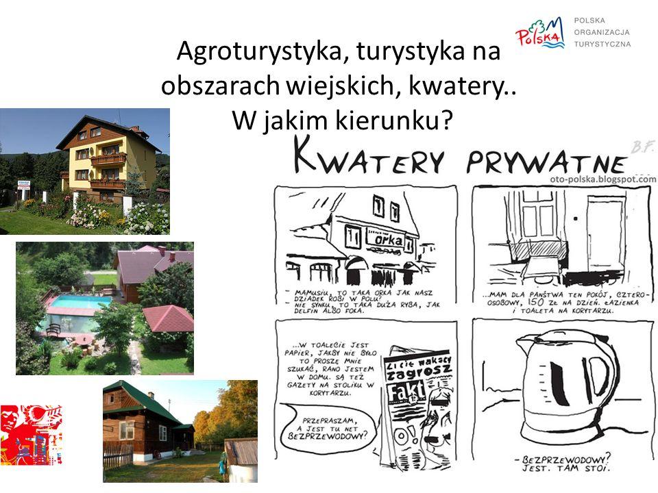 Agroturystyka, turystyka na obszarach wiejskich, kwatery