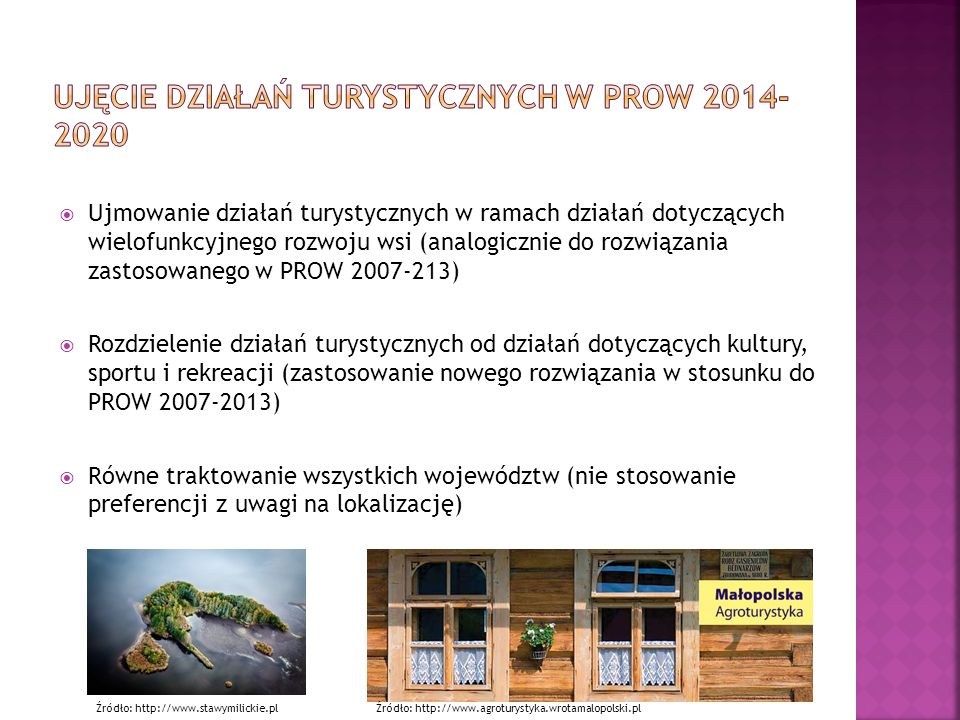 Ujęcie działań turystycznych w PROW 2014-2020