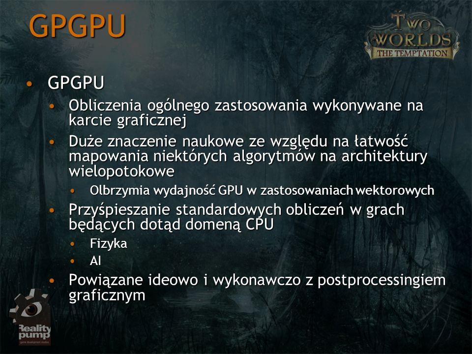 GPGPU GPGPU. Obliczenia ogólnego zastosowania wykonywane na karcie graficznej.