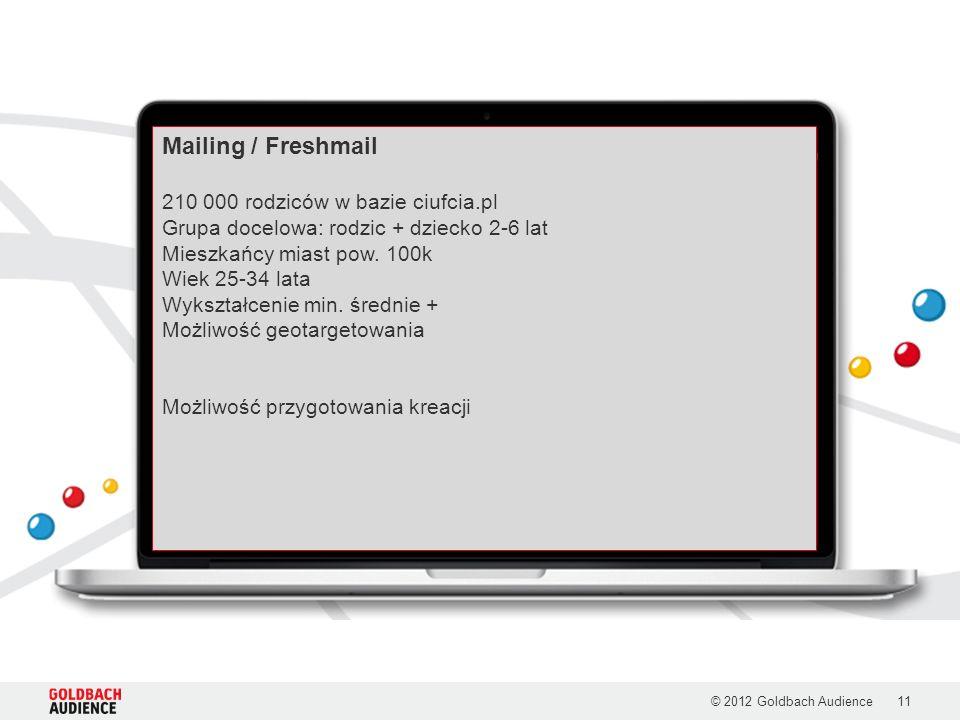Mailing / Freshmail 210 000 rodziców w bazie ciufcia.pl