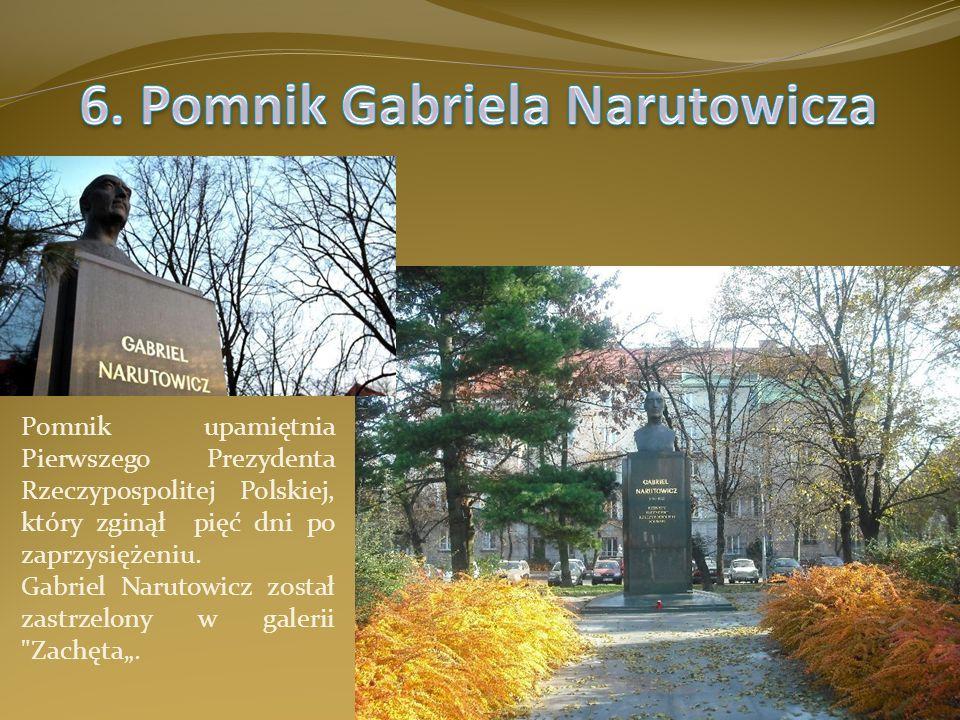 6. Pomnik Gabriela Narutowicza