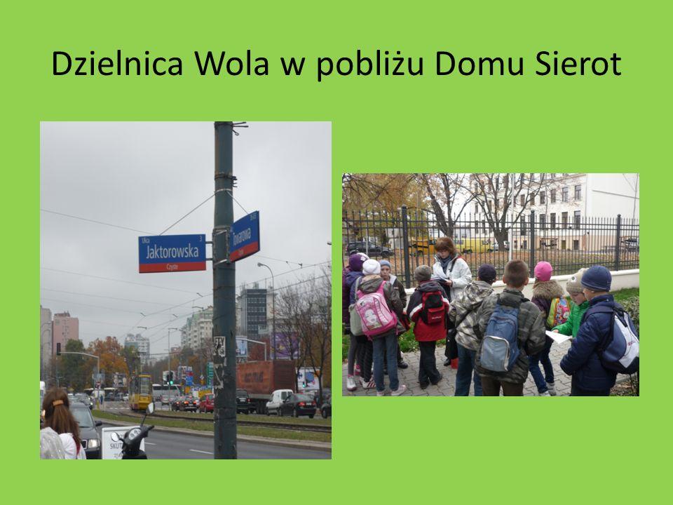 Dzielnica Wola w pobliżu Domu Sierot