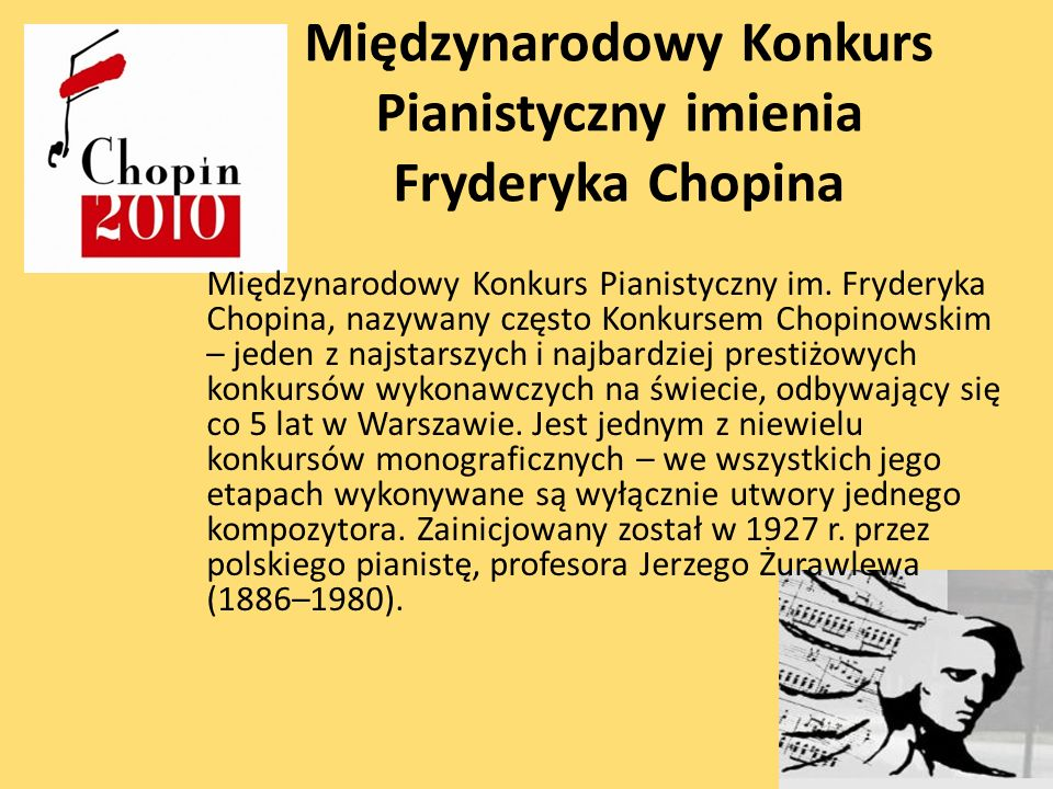Międzynarodowy Konkurs Pianistyczny imienia Fryderyka Chopina