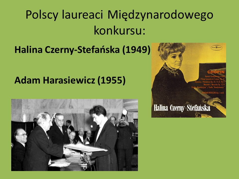 Polscy laureaci Międzynarodowego konkursu: