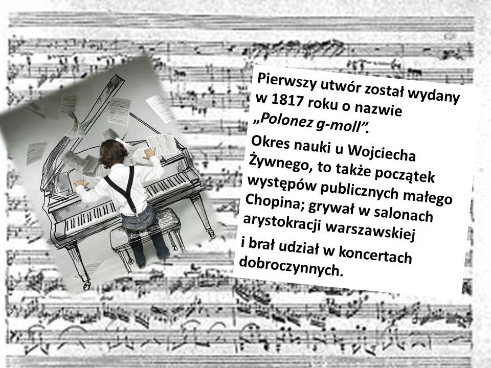 Pierwszy utwór został wydany w 1817 roku o nazwie