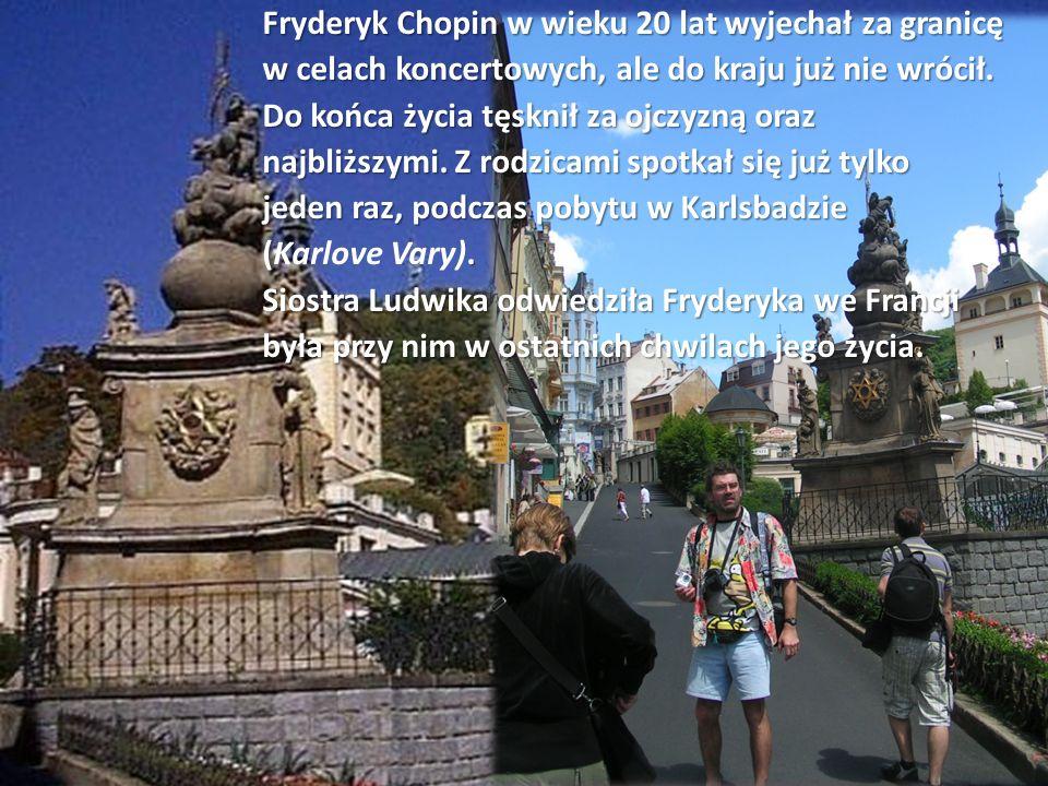 Fryderyk Chopin w wieku 20 lat wyjechał za granicę w celach koncertowych, ale do kraju już nie wrócił.