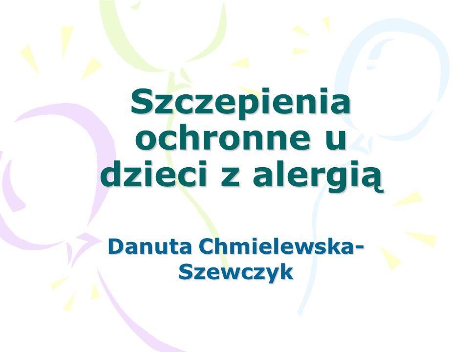 Szczepienia ochronne u dzieci z alergią