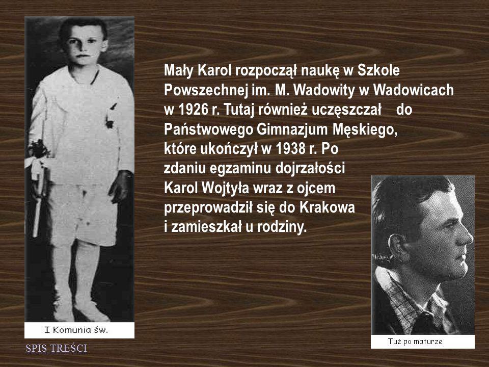 Mały Karol rozpoczął naukę w Szkole Powszechnej im. M