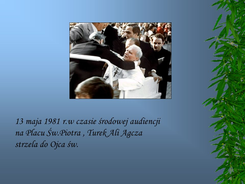 13 maja 1981 r.w czasie środowej audiencji