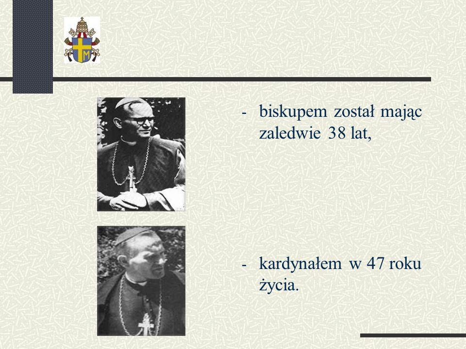 biskupem został mając zaledwie 38 lat,