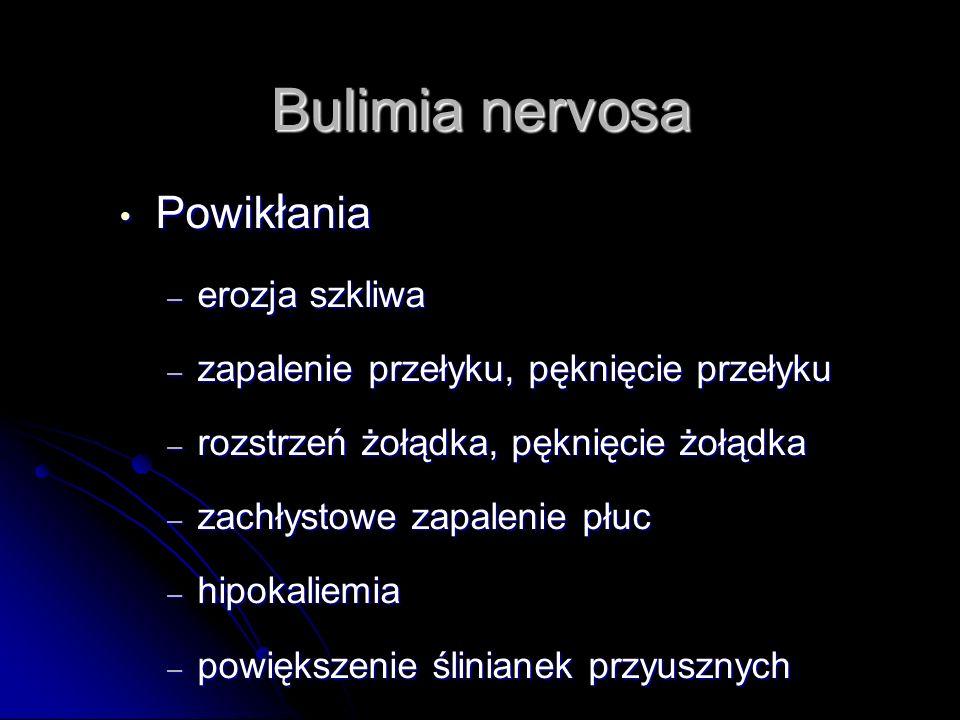 Bulimia nervosa Powikłania erozja szkliwa