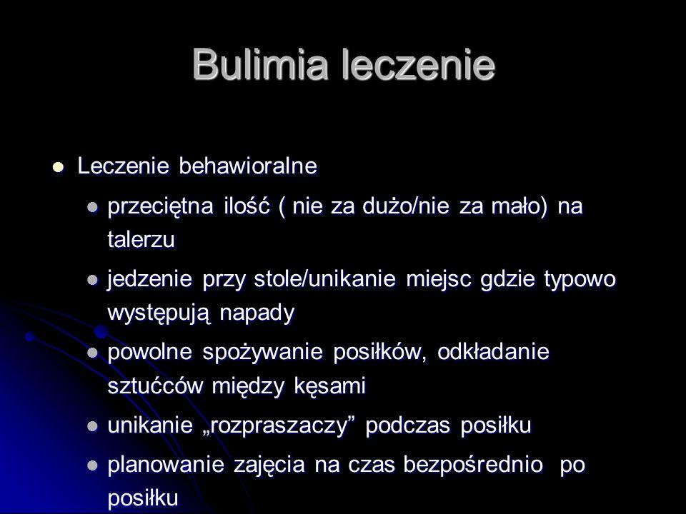Bulimia leczenie Leczenie behawioralne